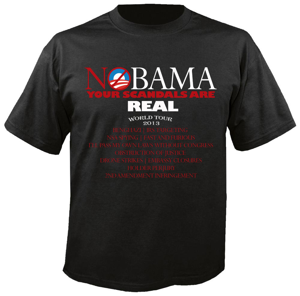 T-Shirt, NOBAMA SCANDALS