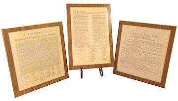 U.S. Founding Documents, Mounted